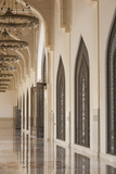 Qatar, Doha, Abdul Wahhab Mosque, the State Mosque of Qatar, Courtyard Walkway Photographic Print by Walter Bibikow