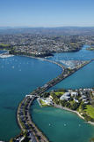 Judges Bay, Tamaki Drive and Waitemata Harbour, Auckland, North Island, New Zealand Photographic Print by David Wall