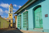 Cuba, Sancti Spiritus Province, Trinidad. Iglesia Y Convento De San Francisco Towers over the City Photographic Print by Inger Hogstrom