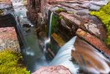 Triple Falls, Glacier National Park, Montana Photographic Print by Russ Bishop