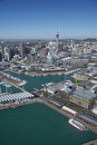 Wynyard Quarter, Viaduct Harbour and Auckland Waterfront, Auckland, North Island, New Zealand Photographic Print by David Wall