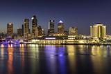 Twilight over the Skyline of Tampa, Florida, Usa Fotografisk trykk av Brian Jannsen