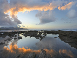 Calm Water Reflects the Sunset Clouds, Playa Santa Teresa, Costa Rica Photographic Print by Tim Fitzharris