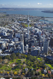 Albert Park, Central Business District, and Sky Tower, Auckland, North Island, New Zealand Photographic Print by David Wall