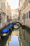 Gondola Parking under Bridge. Venice. Italy Photographic Print by Tom Norring