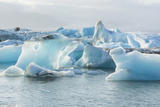Iceland. Jokulsarlon Glaciers and Icebergs , Southeast Iceland Photographic Print by Bill Bachmann