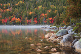 Maine, Acadia National Park, Fall Reflections with Fog at Jordon Pond Photographic Print by Joanne Wells