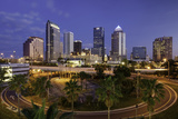 Morning Twilight over the Skyline of Tampa, Florida, Usa Photographic Print by Brian Jannsen
