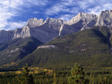Canada, Alberta, Banff National Park, Mount Rundle Rises Above the Bow Valley Photographic Print by John Barger