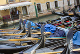 Gondola Parking. Venice. Italy Photographic Print by Tom Norring