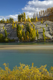 Autumn Colour at Bannockburn, and Kawarau Arm of Lake Dunstan, South Island, New Zealand Photographic Print by David Wall