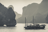 Vietnam, Halong Bay, Boat Traffic Photographic Print by Walter Bibikow