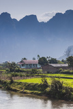 Vietnam, Tuan Giao, Village View Photographic Print by Walter Bibikow