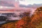 Sunrise and Mountain Mist, North Carolina Photographic Print by Adam Jones