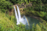 Rainbow in Wailua Falls, Kauai. Hawaii, Usa Photographic Print by Tom Norring