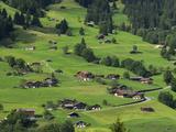 Switzerland, Bern Canton, Grindelwald, Apline Farming Community Photographic Print by Jamie And Judy Wild