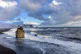 Sea Stack and Black Sand Beach Near Vik, Iceland Photographic Print by Chuck Haney