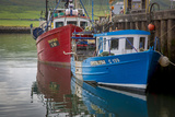 Fishing Boats Along the Pier in Dingle Harbor, Dingle, County Kerry, Republic of Ireland Photographic Print by Brian Jannsen