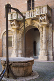 Water Well and Arched Entryway to Cortile Del Tribunale in Palazzo Dei Capitano, Verona Photographic Print by Brian Jannsen