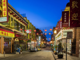 Look Down Grant Street in Chinatown at Dusk in San Francisco, California, Usa Photographic Print by Chuck Haney