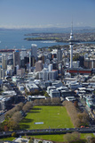 Victoria Park and Central Business District, Auckland, North Island, New Zealand Photographic Print by David Wall