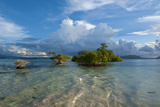 Huge Cloud Formations over the Marovo Lagoon, Solomon Islands, Pacific Photographic Print by Michael Runkel