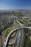 Northwestern Motorway and Waterview Connection, Auckland, North Island, New Zealand Photographic Print by David Wall