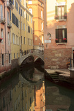 Narrow Canal with Bridge. Venice. Italy Photographic Print by Tom Norring