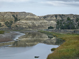 Little Missouri River Flows Through the Valley, Theodore Roosevelt National Park, North Dakota Photographic Print by Tim Fitzharris