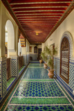 Africa, Morocco, Fes. Ornate and Colorful Hallway Fotografisk tryk af Brenda Tharp