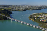 Upper Harbour Bridge, Waitemata Harbour, Auckland, North Island, New Zealand Photographic Print by David Wall