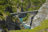 State Highway 6 Bridge and Historic Bridge, over Kawarau River, New Zealand Photographic Print by David Wall