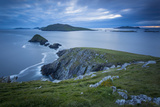 Dusk over Dunmore Head with Blasket Islands Beyond, Dingle Peninsula, Ireland Photographic Print by Brian Jannsen