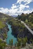 Bridge over Kawarau River, Kawarau Gorge, South Island, New Zealand Photographic Print by David Wall