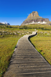 Hidden Lake Trail at Logan Pass under Clements Mountain, Glacier National Park, Montana Photographic Print by Russ Bishop