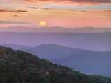 Sunrise over Blue Ridge Mountains, Great Smoky Mountains National Park, Tennessee, Usa Photographic Print by Tim Fitzharris