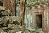 Tree Roots Growing over Ta Prohm Temple Ruins, Angkor World Heritage Site, Siem Reap, Cambodia Photographic Print by David Wall