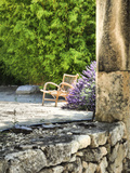 France, Provence. Outdoor Patio of the Saint-Hilaire Abbey Photographic Print by Julie Eggers