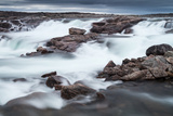 Canada, Nunavut Territory, Blurred Image of Rushing Waterfall Near Bury Cove Along Hudson Bay Photographic Print by Paul Souders