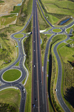 Roundabouts and Upper Harbour Motorway, Hobsonville, Auckland, North Island, New Zealand Photographic Print by David Wall
