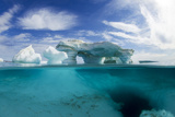 Canada, Underwater View of Melting Iceberg, Nunavut Territory Photographic Print by Paul Souders