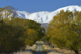 Otago Central Rail Trail , Ida Range, Central Otago, South Island, New Zealand Photographic Print by David Wall