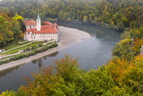 Weltenburg Monastery and the Danube Gorge During Fall. Germany Photographic Print by Martin Zwick