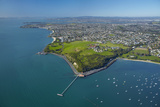 Orakei Wharf and Bastion Point, Auckland, North Island, New Zealand Photographic Print by David Wall
