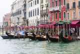 Gondolas and Restaurants at Grand Canal. Venice. Italy Photographic Print by Tom Norring