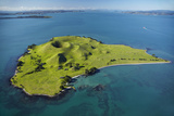 Volcanic Craters on Browns Island, or Motokorea, Hauraki Gulf, Auckland, North Island, New Zealand Photographic Print by David Wall