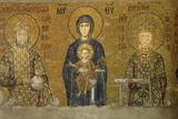Christian Wall Mosaic. Hagia Sophia. Istanbul. Turkey Photographic Print by Tom Norring