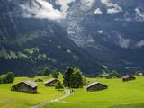 Switzerland, Bern Canton, Grindelwald, Alpine Farm Area Photographic Print by Jamie And Judy Wild