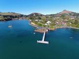 Jetty, Portobello, Otago Peninsula, and Otago Harbour, Dunedin, South Island, New Zealand Photographic Print by David Wall