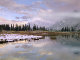 Mount Rundle, Sulphur Mountain, Vermillion Lake, Banff National Park, Alberta, Canada Photographic Print by Tim Fitzharris